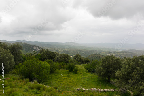 Keuken foto achterwand Grijze traf. Beautiful Landscape of mountains and valleys in Rhodes