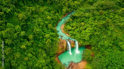Valokuva  Beautiful aerial view of Cikaso waterfall in Sukabumi