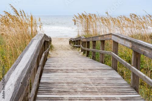 Fotografie, Obraz Boardwalk Leading to the Beach