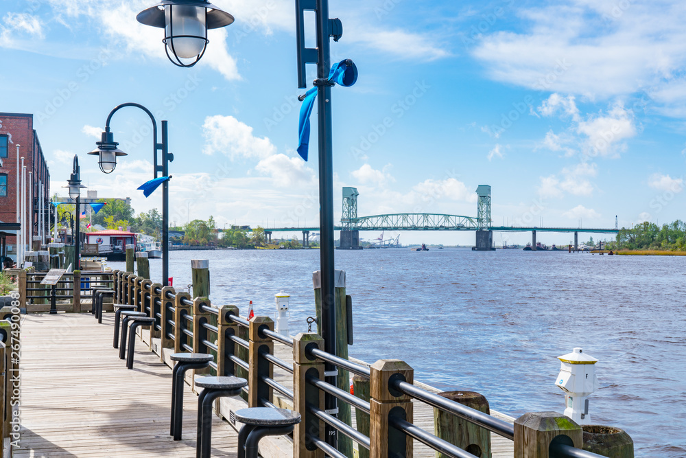 Fototapety, obrazy: Wilmington, North Carolina Riverwalk