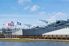 Guns Of The Battleship USS Nor...