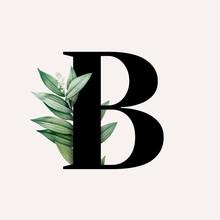 Botanical Font Letter B