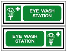 Eye Wash Station Symbol Sign, Vector Illustration, Isolate On White Background Label. EPS10