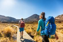 New Zealand Hiking Couple Back...