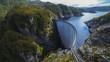 wide view of strathgordon dam in tasmania