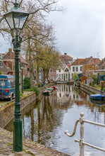 Alkmaar, The Netherlands - April 12, 2019: The Old City Centre Of Alkmaar In North-Holland In The Netherlands. Also Known As The City Of Cheese.