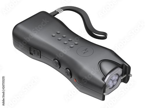 Fotografie, Tablou Stun gun isolated on white background - 3D illustration