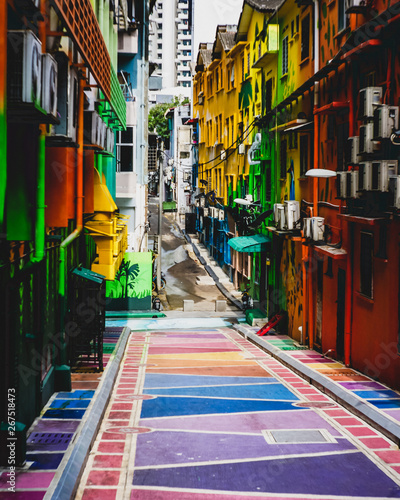 Colourful alley at Jalan Alor