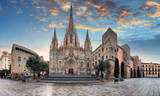 Cathedral of the Holy Cross and Saint Eulalia at sunset in Barcelona, Spain - 267519276