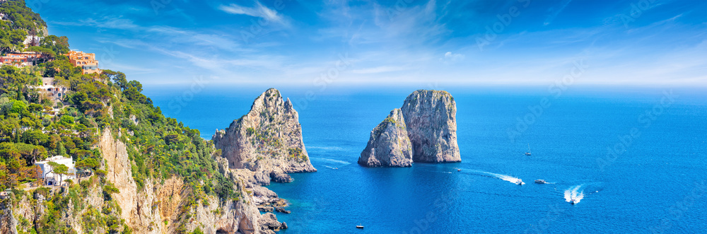 Faraglioni Rocks near Capri Island, Italy
