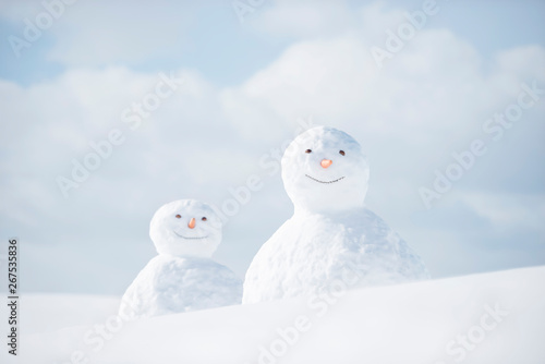 Fototapeta 雪だるま