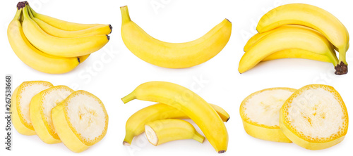Fresh banana on white background - 267538668