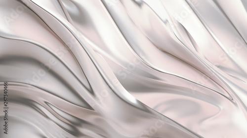 Pinturas sobre lienzo  Luxurious silver background with satin drapery