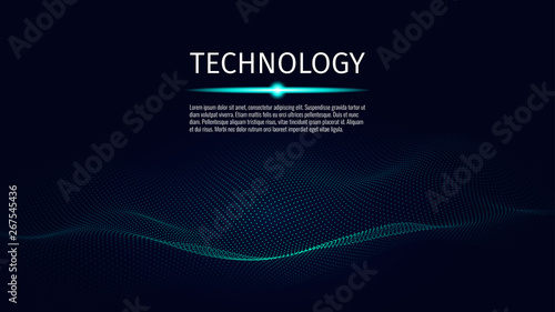3d abstract digital technology background Fototapete
