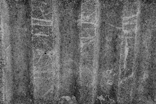 Fototapety, obrazy: The concrete texture, wall, with cracks and scratches can be used as a background