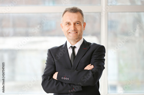 Handsome mature businessman in office