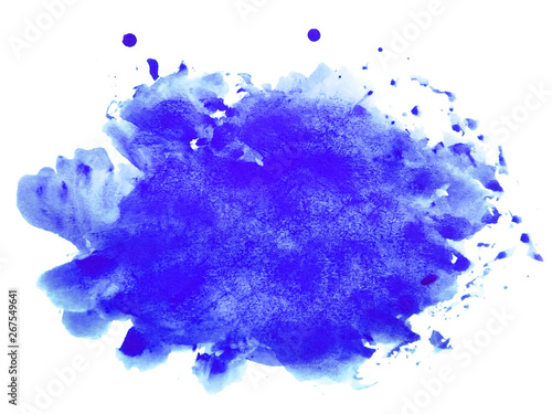 Photo  Abstract watercolor on white background