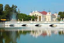 Ayutthaya Province, Thailand - January 29, 2017: Bang Pa-In Palace, Thai Royal Residence
