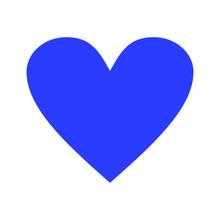 Blue Heart Love Valentine Icon Vector