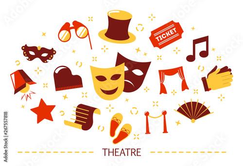 Carta da parati Theater concept. Idea of a show and entertainment