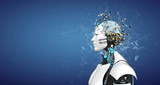 Humanoid Robot Splintered Head Brain
