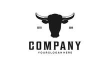 Cow Head Vintage Logo
