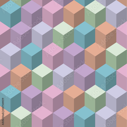 vector image of abstract cubik seamless background #267564439