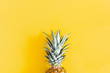 canvas print picture - Summer composition. Pineapple on yellow background. Summer concept. Flat lay, top view