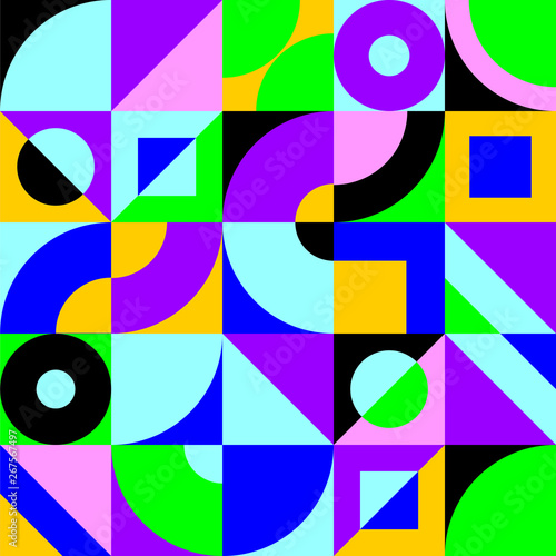 abstract geometric poster #267567497