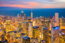 Downtown Skyline Of Chicago Fr...