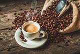 Fototapeta Kawa jest smaczna - coffee background