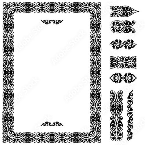 vintage border and design elements #267570639