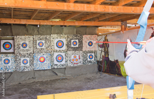 Printed kitchen splashbacks Indians The targets in the shooting range for archery