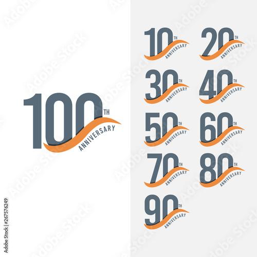 Foto 100 Year Anniversary Set Vector Template Design Illustration