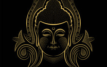 Gold Buddha Face Traditional A...