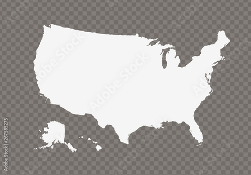 Vector usa map on transparent background. - Illustration - Buy this ...