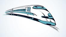Rapid Train. Vector Sketch