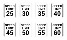 Speed Limit Road Signs