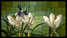 Vector Stained Glass Window Wi...
