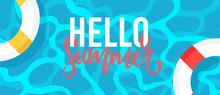 Hello Summer Web Banner Backgr...