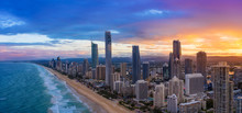 Sunset Over Surfers Paradise O...