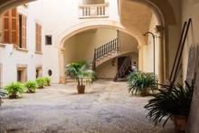 A Small Courtyard In Palma De Mallorca, Spain