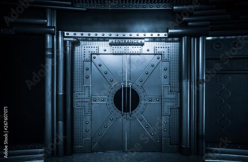 фотография  Sci-fi Scene, Spacecraft Metal Gate