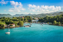 Marina Landscape Of Castries, ...