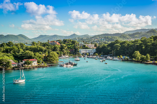 Foto Marina landscape of Castries, St Lucia