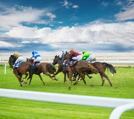 Horse racing outdoor derby
