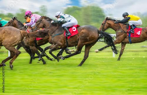 Valokuvatapetti Horse racing outdoor derby