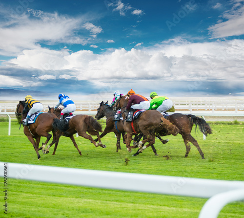 Foto Horse racing outdoor derby