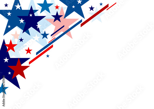 Obraz Abstract USA background design independence day banner vector illustration - fototapety do salonu