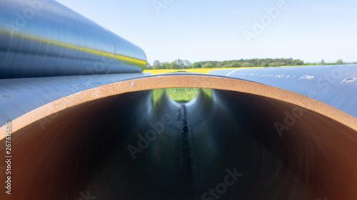 Valokuvatapetti Baustelle und Gaspipelines vom Nordstream 2 Projekt, Norddeutschland